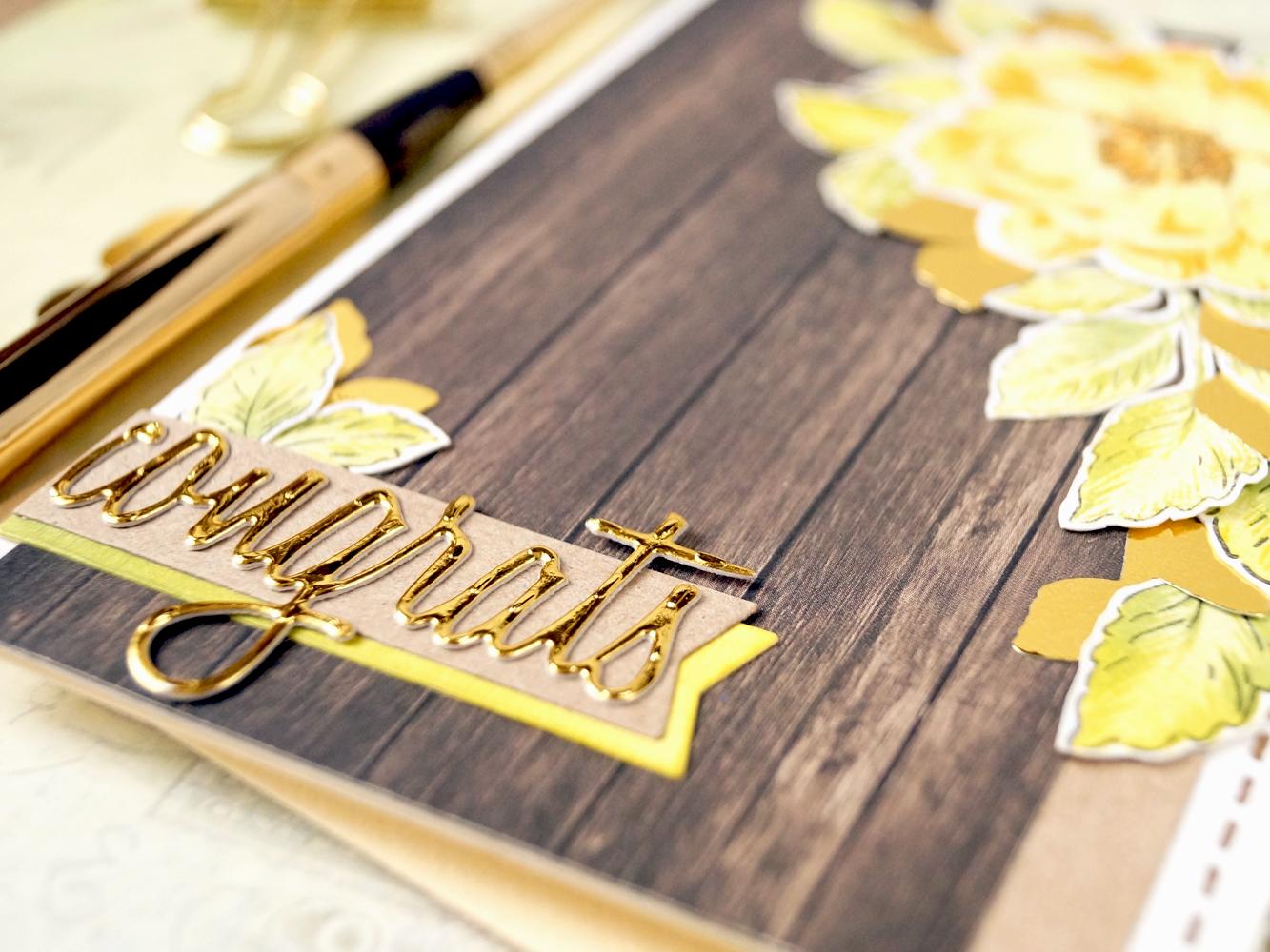 Картинках, золотая открытка