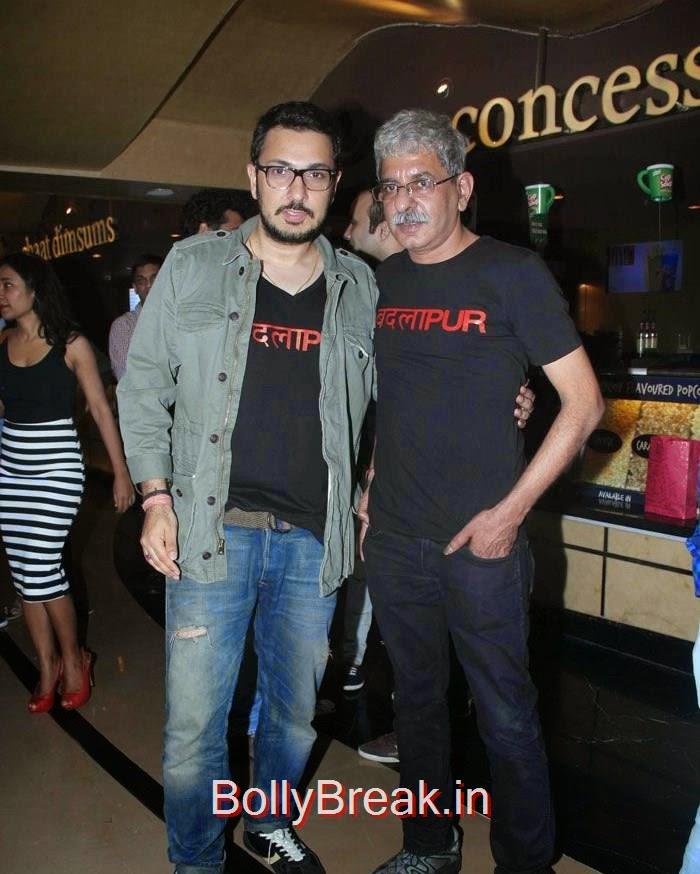 Dinesh Vijan, Sriram Raghavan, Hot Images OF Manasvi Mamgai, Huma Qureshi, Sonakshi Sinha At  'Badlapur' Special Screening