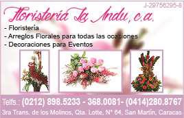 FLORISTERIA LA INDU C.A. en Paginas Amarillas tu guia Comercial