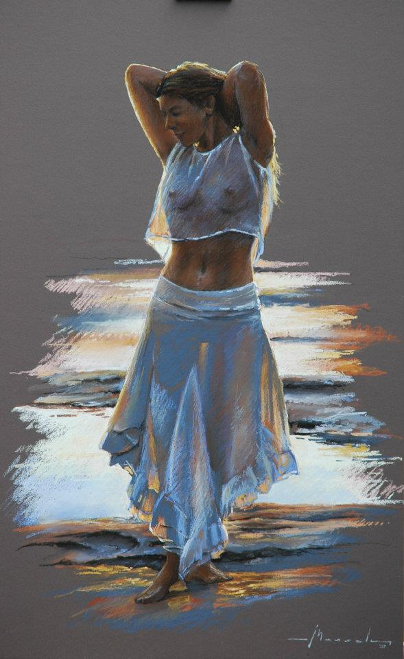 As mais belas pinturas sensuais de Johan Messely