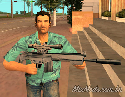 gta vice city ai upscaled weapons textures hd remaster sniper