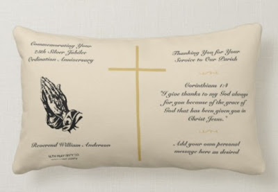 25th ordination anniversary gift pillow personalized