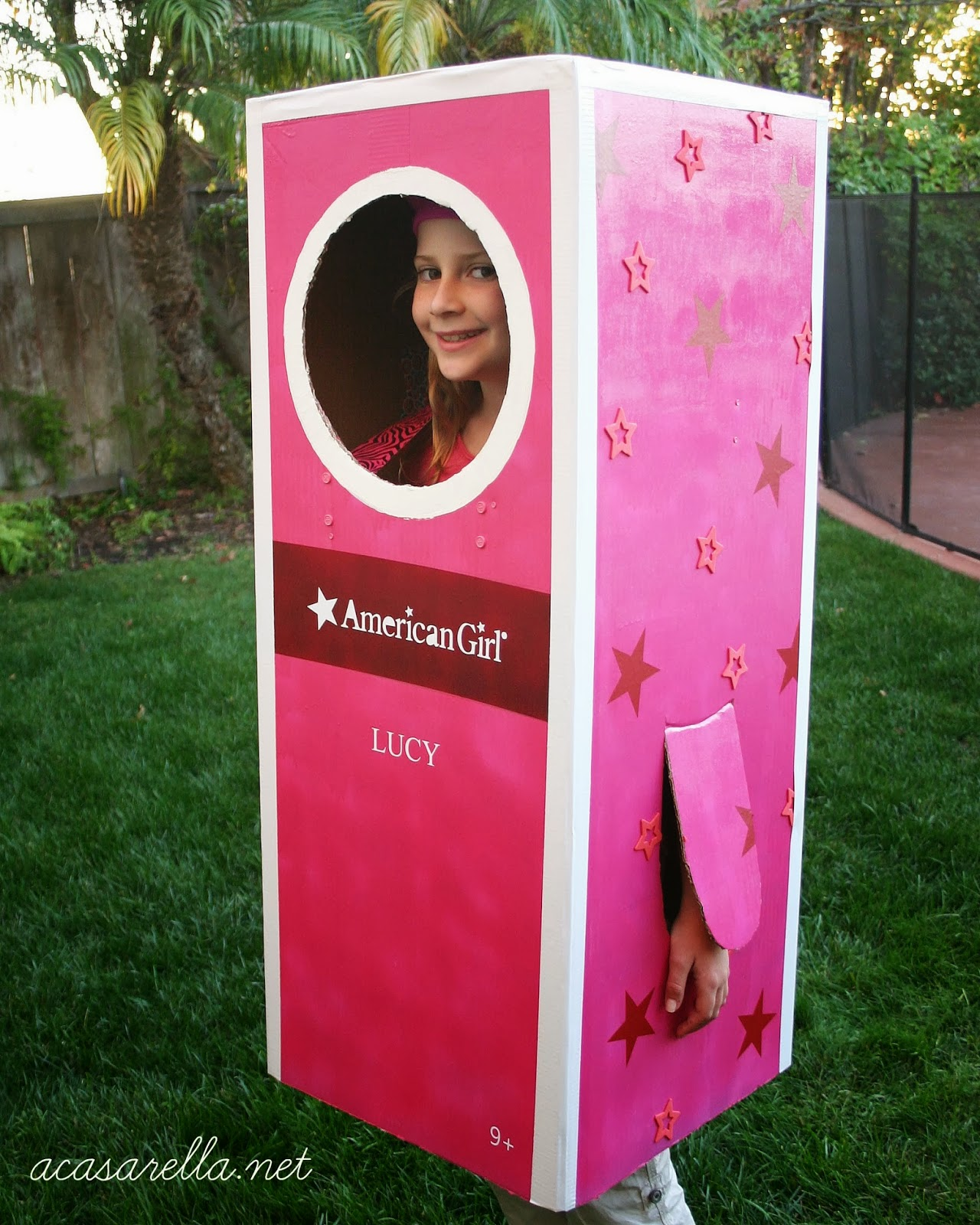 Diy American Girl Box Halloween Costume A Casarella
