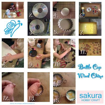 Bottle Cap Wind Chimes for Sakura Design Team (3/6)