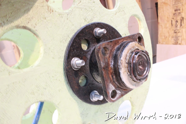 bolt wheel bearing to wood