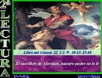 Resultado de imagen para En aquellos días, llegaron Abrahán e Isaac al sitio que la había dicho Dios