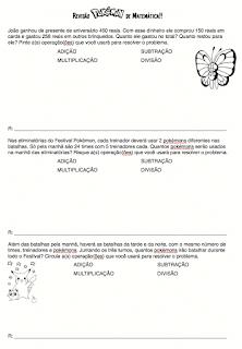 Revisão de matemática tema pokémon 4º ano 1º bimestre