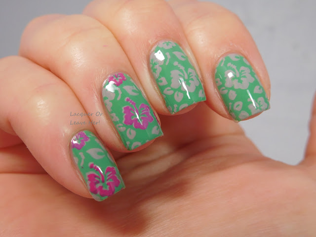 Tropical flowers: Winstonia Beach, Please! + Zoya Ness, Brynn, and Live