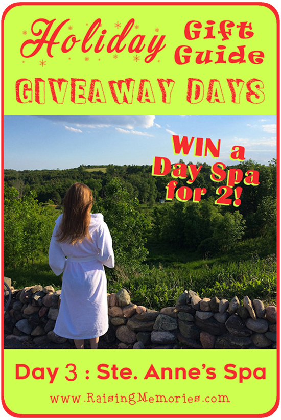 Spa Day for 2 Giveaway Ste. Anne's Spa