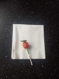 A Lollipop and Tissue before it's turned into a Ghost!