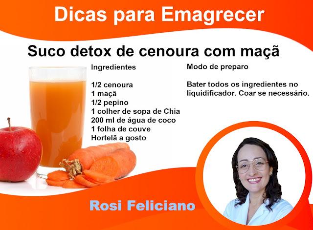Sucos Detox uma dica para emagrecer e limpar o corpo de substâncias que os fazem se sentir fraco, doente ou fora de forma.