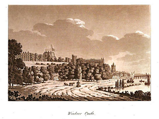 Windsor Castle  from Picturesque Views on the River Thames  by Samuel Ireland (1791)