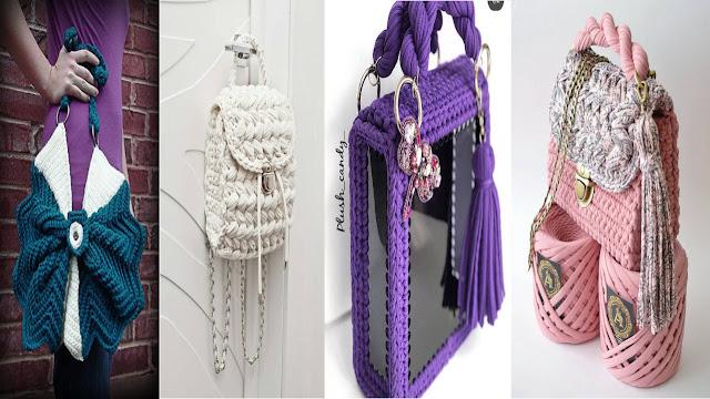 fbc631f100cc2 أفضل 140 حقائب الكروشيه 2019 Crochet Bags