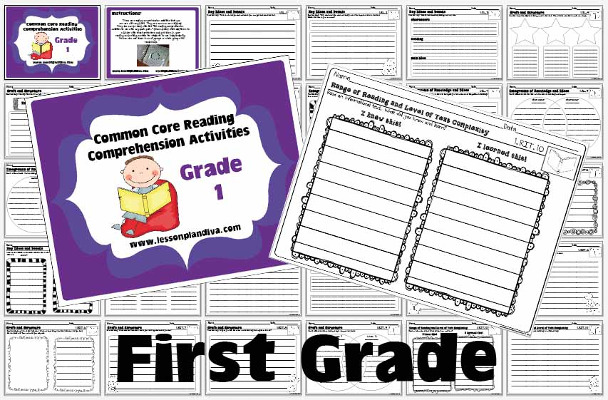 Book Report Format For First Grade