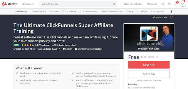 The Ultimate ClickFunnels Super Affiliate Training-Udemy Free (100%)