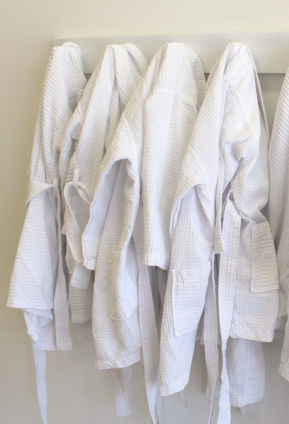 Image of white children's bath robes