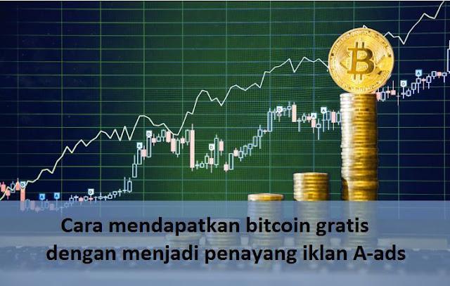 Cara mendapatkan bitcoin gratis dengan menjadi penayang iklan A-ads