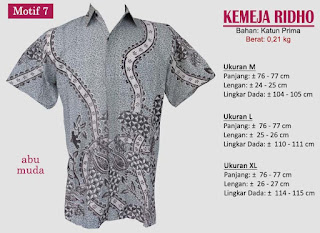 Grosir kemeja batik pria murah dan berkualitas (batik pekalongan)- ridho motif 7