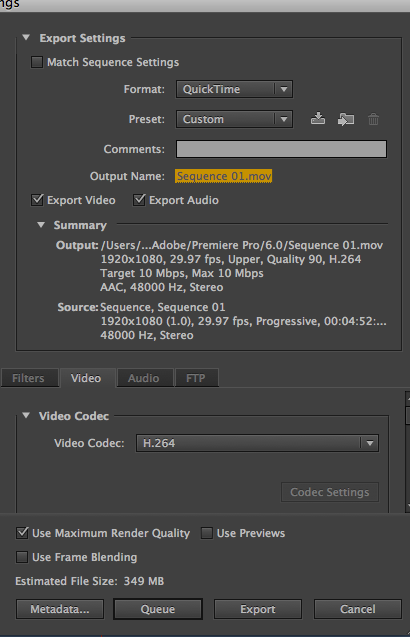 Mr  Mitchell's Video Classes: Exporting From Adobe Premiere Pro