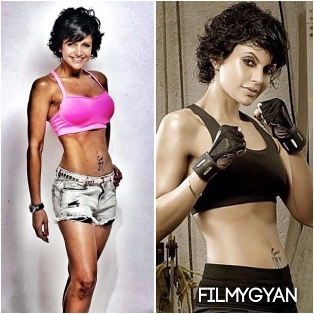 fitness queen @mandirabedi ! look at her sizzling figure 😍 mandira bedi , fitness , sexy , gym , motivation , just doit , bollywood , filmy gyan ,, Latest Hot Pics of Mandira Bedi From Different Events