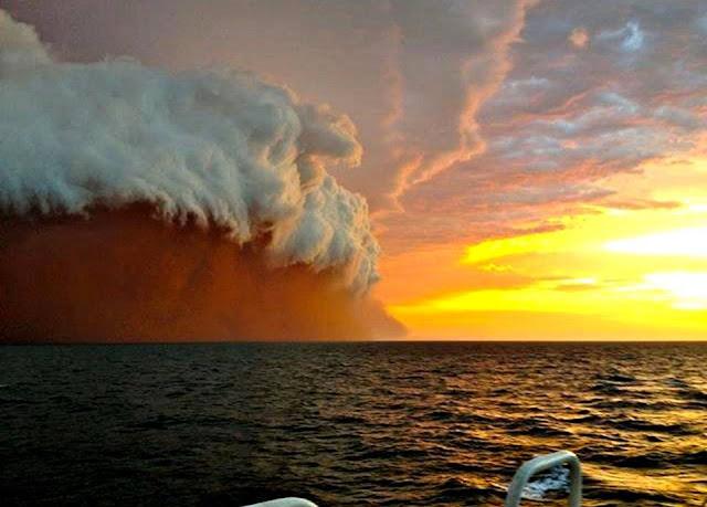 Haboob, dust storm over Australia