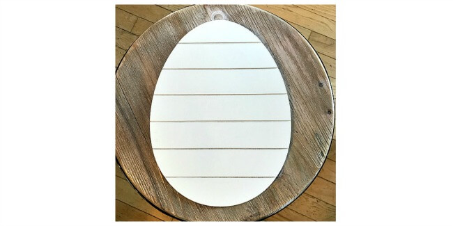Hand Painted Shiplap Easter Egg