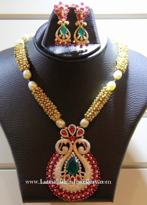 Stylish Gold Beaded Necklace