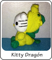 Kitty dragón amigurumi