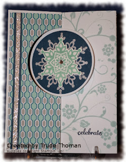 Festive Flurry, Flip card, Christmas card, Stamp with Trude, Stampin' Up!