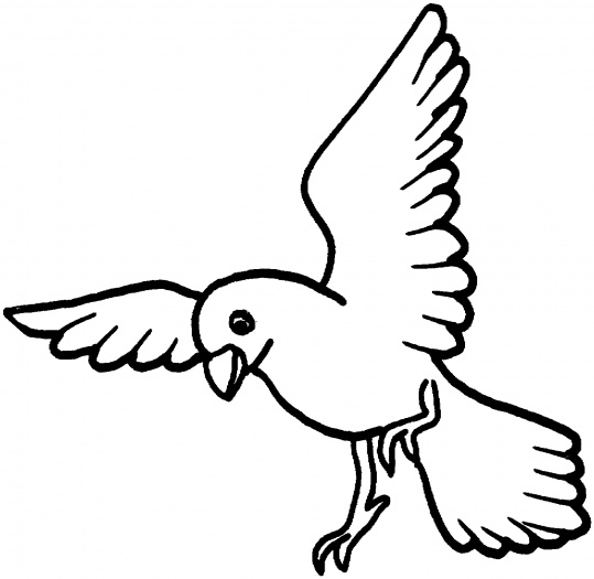 Interactive Magazine: flying dove coloring pages
