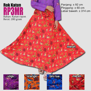 Rok payung umbrella motif cantik bahan katun rayon