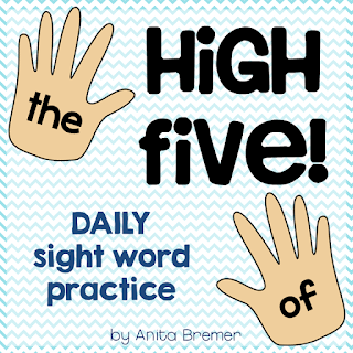 A fun activity to sneak in daily practice of sight words!