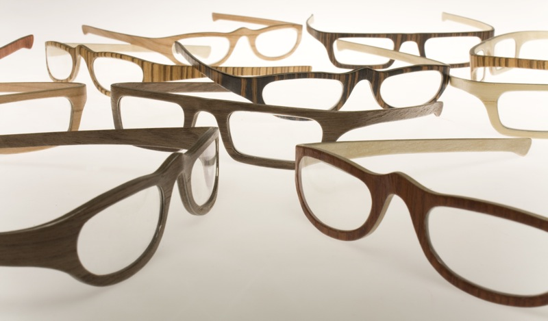 beautifully crafted wood eyeglass frames from a carpenter and a designer in italy