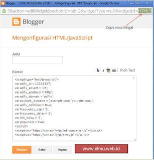 membuat widget blogspot versi mobile