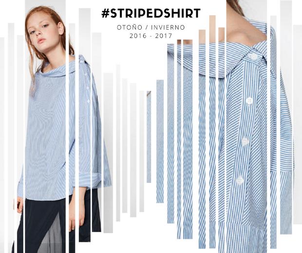 tendencias moda otoño invierno 2016 2017 camisa rayas