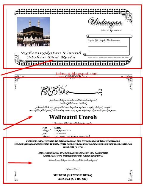 Download Contoh Undangan Berangkat Umroh Terbaru Dengan ...