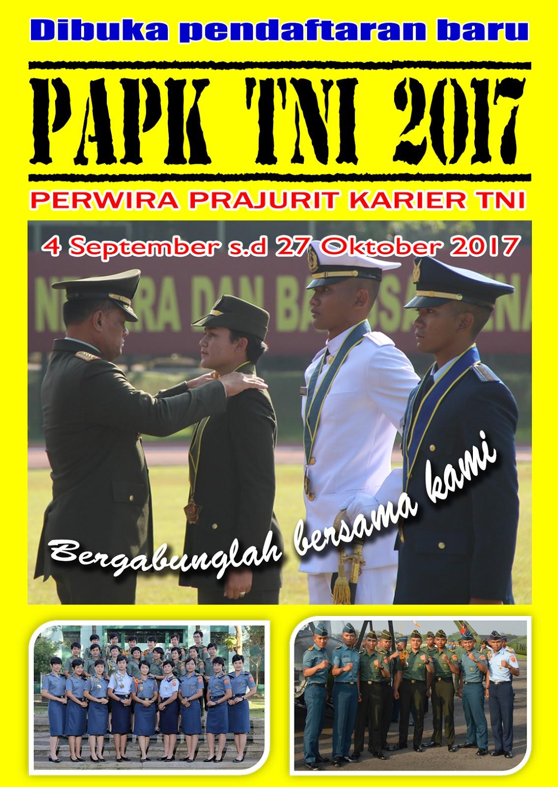 Lowongan Kerja  Rekrutmen  TNI  2017 Besar Besaran  Juni 2018