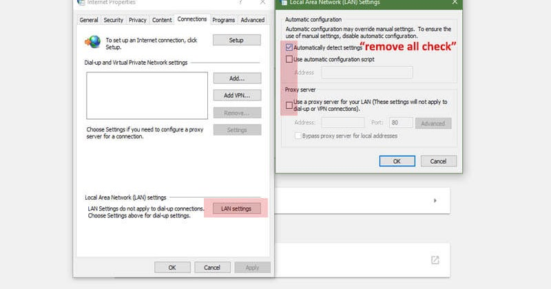 how to change proxy settings in windows 7 google chrome