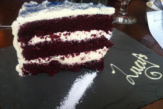 Lucy's of Ambleside Up the Duff Pudding Club - Red Velvet and English Rose Sponge
