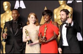Mahershala Ali, Emma Stone, Viola Davis y Casey Affleck en los Oscars 2017
