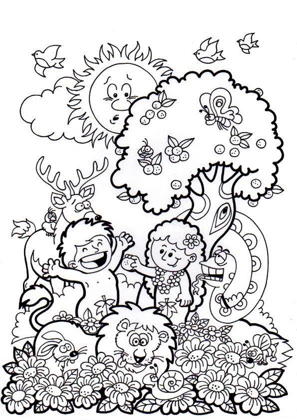 Me Aburre La Religión La Creación Para Preescolares Colorear