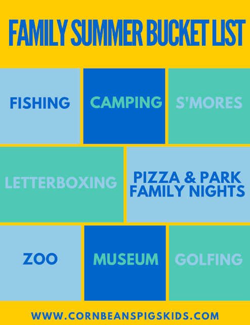 2016 Family Summer Fun Bucket List