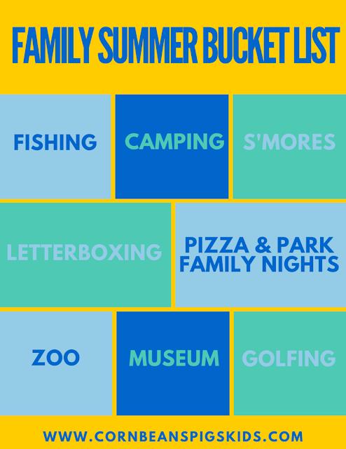2016 Family Summer Fun Bucket List