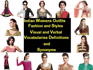 Visual and verbal vocabularies to Identify understand analyze and describe Indian fashion wear for women Anarkali Bell-bottom Pants Blouse Choli Churidar Dupatta Gown Harem Pant Jacket Koti Kaftan Kameez Kurta Kurti Tunic Lehenga Palazzo Pants Salwar Saree Boat Neck Cowl Neck Deep V-Neck Jewel Neck Keyhole Neck Mandarin Neck Portrait Neck Round Neck Scoop Neck Square Neck Sweet Heart Neck