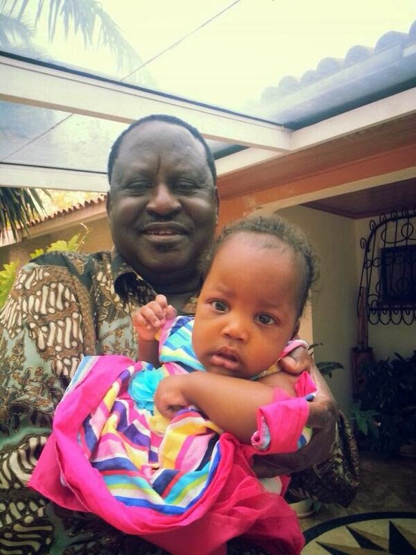 raila with grand child