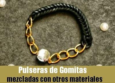 Pulsera Gomitas con Cadenas Diy