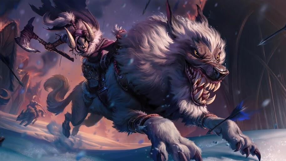 Wolfrider, Legends of Runeterra, 4K, #3.1695