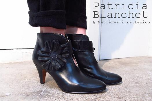 Code promo Patricia Blanchet bottines cuir noir RosaBibi