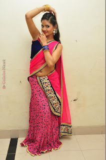 Actress Shreya Vyas Latest Stills in Pink Half Saree  0098