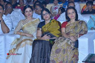 Actress Vimala Raman Stills in White Silk Saree at Om Namo Venkatesaya Audio Launch Event  0015.JPG